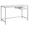 This item: White and Silver 22-Inch Computer Desk with Open Shelf