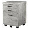 This item: Gray and Black 18-Inch Filing Cabinet