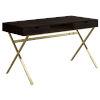 This item: Gold Rectangular Computer Desk