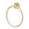 This item: Latitude II Brushed Brass Towel Ring