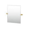 This item: Latitude II Brushed Brass 24-Inch Frameless Rectangle Mirror