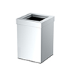 This item: Square Modern Bathroom, Kitchen, Office, Waste and Trash Can Bin Chrome
