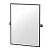 This item: Elevate 32.5-Inch Framed Rectangle Mirror Matte Black