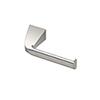 This item: Quantra Single Post Euro Style Toilet Paper Holder Satin Nickel