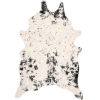 This item: Iraida Faux Cowhide Black Shaped: 5 Ft. x 6 Ft. 7 In. Rug