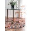 This item: Samira Warp Multicolor Round: 8 Ft. Rug