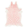 This item: Alyssa Faux Zebra Cowhide Pink Shaped: 5 Ft. x 6 Ft. 7 In. Rug