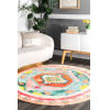 This item: Bohemian Diamond Candicegy Multicolor Round: 6 Ft. Rug
