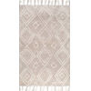 This item: Lisha Moroccan Tan Rectangular: 7 Ft. 6 In. x 9 Ft. 6 In. Rug
