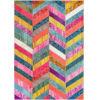 This item: Shante Multicolor Rectangular: 6 Ft. 7 In. x 9 Ft. Rug
