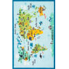 This item: Animal World Map Baby Blue Rectangular: 4 Ft. 4 In. x 6 Ft. Rug