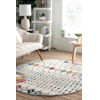 This item: Moroccan Blythe Multicolor Round: 5 Ft. Rug