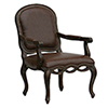 This item: Brown Bonded Leather Chair with Elegant Detailed Carvings with Nail Head Trim