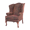This item: Paisley Cranberry Wing Back Chair