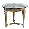 This item: Galloway Glass Round End Table w/ Glass Top
