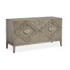 This item: Brown Wood Four-Door Console Table