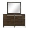 This item: Modern Geometry Palladium Wood Landscape Mirror