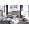 This item: Paxton Place Dove Tail Grey King Panel Bed Headboard