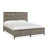 This item: Atelier Nouveau Grey And Palladium Queen Panel Storage Bed
