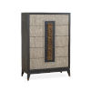 This item: Ryker Nocturn Black and Coventry Gray Drawer Chest