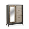 This item: Ryker Nocturn Black and Coventry Gray Door Chest