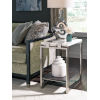 This item: Paradox White And Brushed Platinum 24-Inch End Table