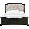 This item: Bellamy Traditional Peppercorn California King Sleigh Bed with Shaped Footboard