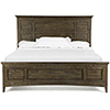 This item: Bay Creek Relaxed Traditional Toasted Nutmeg King Panel Bed with Storage Rails
