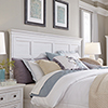 This item: Heron Cove Relaxed Traditional Soft White King Panel Bed Headboard