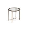 This item: Copia Antique Silver and Metal Oval End Table