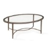 This item: Copia Antique Silver and Metal Oval Cocktail Table