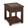 This item: Roanoke Cherry and Slate End Table