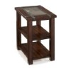This item: Roanoke Cherry and Slate Rectangular Chairside End Table