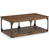 This item: Montgomery Industrial Reclaimed Wood Coffee Table with Casters in Bourbon finish