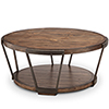 This item: Yukon Industrial Bourbon and Aged Iron Round Coffee Table with Casters