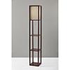 This item: Wright Walnut Wood Veneer One-Light Shelf Lamp