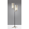 This item: Davis Matte Black and Antique Brass Two-Light Floor Lamp