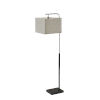 This item: Flora Black and Brushed Steel One-Light Floor Lamp