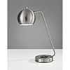 This item: Emerson Brushed Steel One-Light Desk Lamp