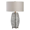 This item: Sinuous Wavy Steel Mesh Lamp