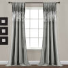 This item: Dark Gray and Black 42 x 84 In. Window Curtain Panel, Set of 2