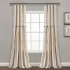 This item: Linen Button Cream 40 x 84 In. Single Window Curtain Panel