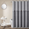 This item: Farmhouse Gray 72 x 72 In. Button Stripe Woven Shower Curtain