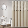 This item: Farmhouse Beige 72 x 72 In. Button Stripe Woven Shower Curtain