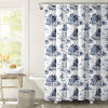 This item: White and Blue 72 x 72 In. Shower Curtain