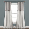 This item: Linen Button Gray and White 40 x 108 In. Single Window Curtain Panel