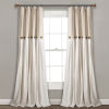 This item: Linen Button Beige and Off White 40 x 108 In. Single Window Curtain Panel