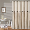 This item: Linen Button Cream 72 x 72 In. Button Single Shower Curtain