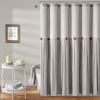 This item: Linen Button Gray 72 x 72 In. Button Single Shower Curtain