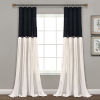 This item: Linen Button Black and White 40 x 95 In. Single Window Curtain Panel